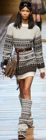 Colgate Couture: Fabulous in Fair Isle
