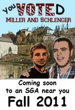 Miller and Schlenger Win SGA Election by 10 Percent Margin