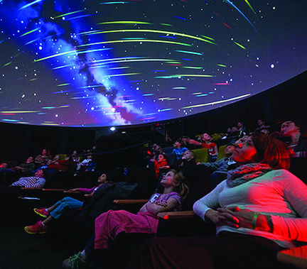 The Ho Visualization Lab's Cosmic Light Show provided all attendees with a unique musical experience.
