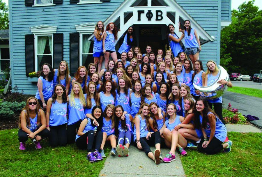Delta Delta Delta, Kappa Kappa Gama and Gamma Phi Beta welcomed new members from the classes of 2017 and 2018.