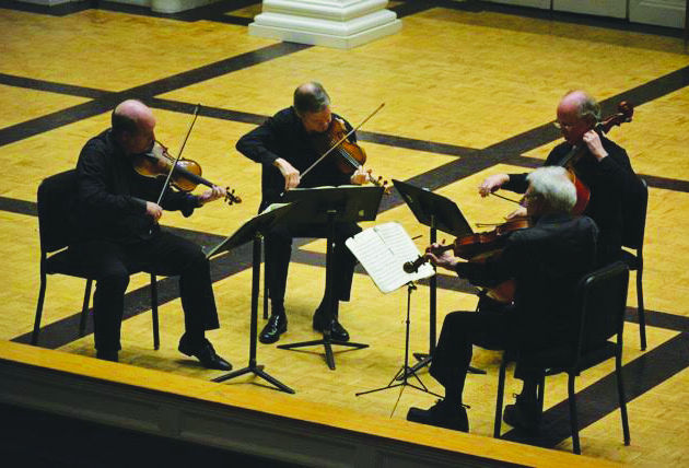 The Manhattan String Quartet impressed once again with their spot-on rhythm and expertise.