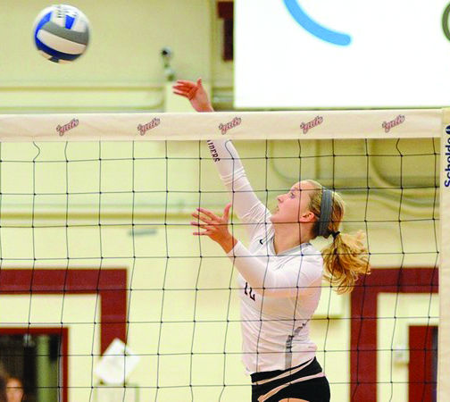 First-year Katie Stansbury lead the other first-years in the Raiders' effort against Army with 10 digs and 4 spikes.