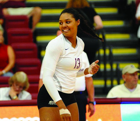 First-year Jaelah Hutchison recorded seven kills, and played a major role in the Raiders' ability to generate some offensive opportunities.
