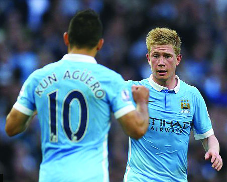 Kevin De Bruyne has teamed up with the likes of Sergio Aguero to provide Manchester City with the firepower to lead the Premier League.