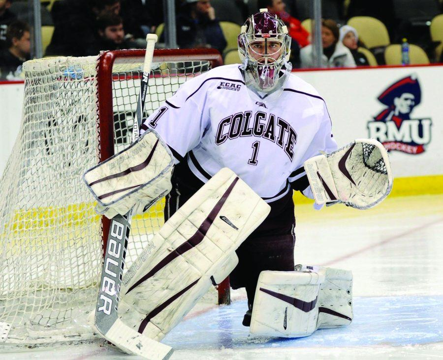 %C2%A0Junior+goalkeeper+Charlie+Finn+ties+his+record+of+43+saves+in+the+second+RIT+game%3B+he+helped+secure+the+Raiders%E2%80%99+two+wins+over+RIT.+%C2%A0