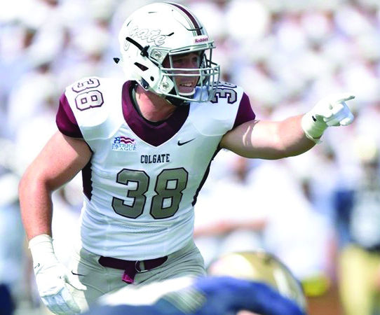 Junior linebacker Kyle Diener earned Patriot League Defensive Player of the Week recognition and will play a vital role in the Raiders' effort against Fordham.