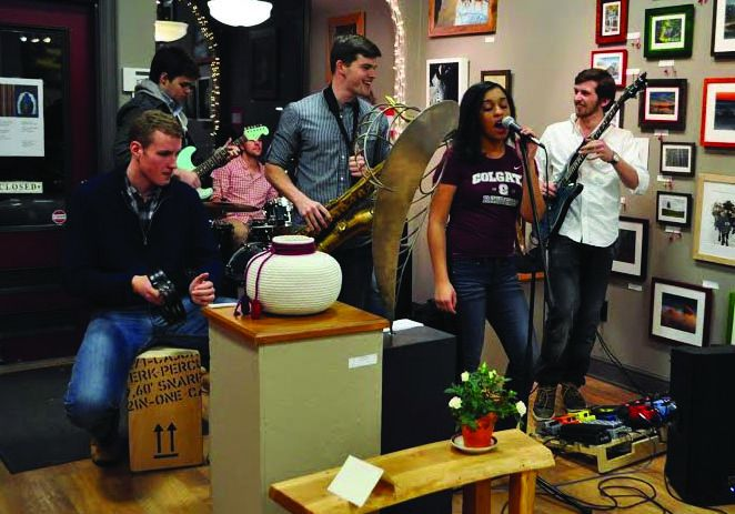 This band had a busy weekend as they played at a gallery opening and Jamnesty.