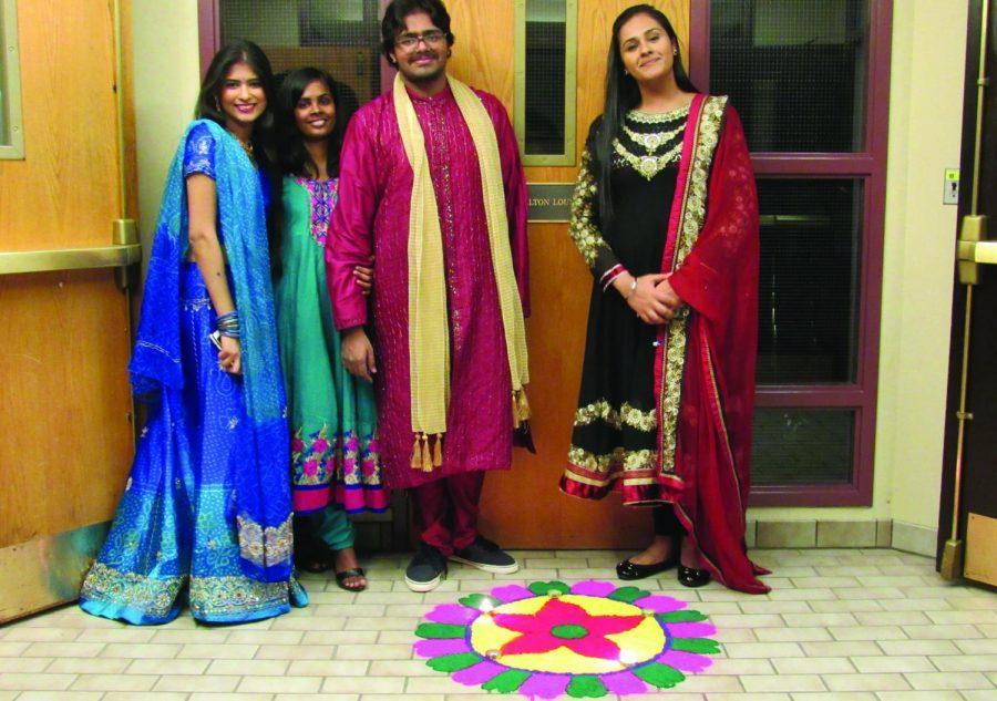 Members of the Hindu Student Association came together to celebrate Diwali at Colgate.
