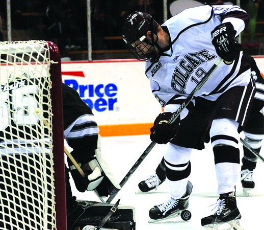 Junior forward Tim Harrison tallied one of the two goals in the Raiders' game against the Big Green; unfortunately, the Raiders fell 2-3 to Dartmouth.