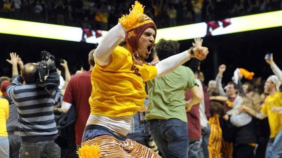College fans go wild when their teams pull off huge upsets.