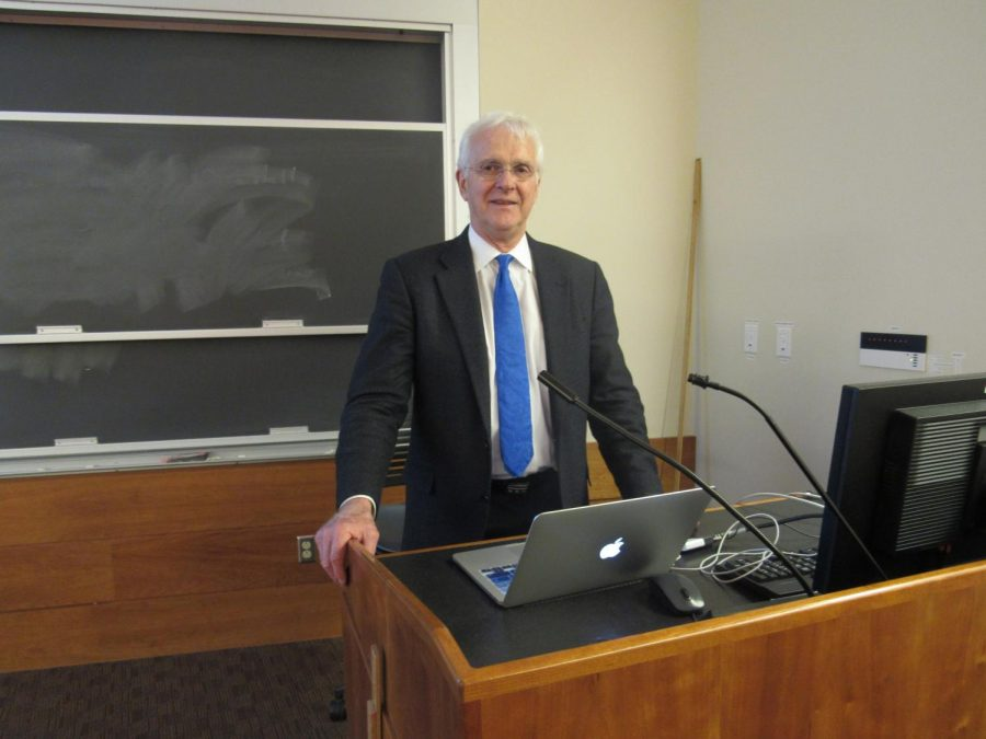 Professor+David+K.+Campbell+presents+on+the+importance+of+non-linear+science+in+the+mathematical+and+physical+world.%C2%A0