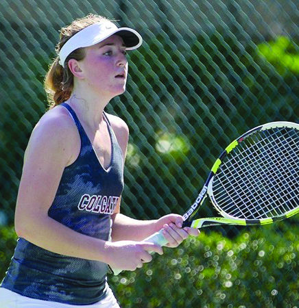 Sophomore Kelly Klein helped the Raiders secure a decisive victory over Roberts Wesleyan this past Saturday.