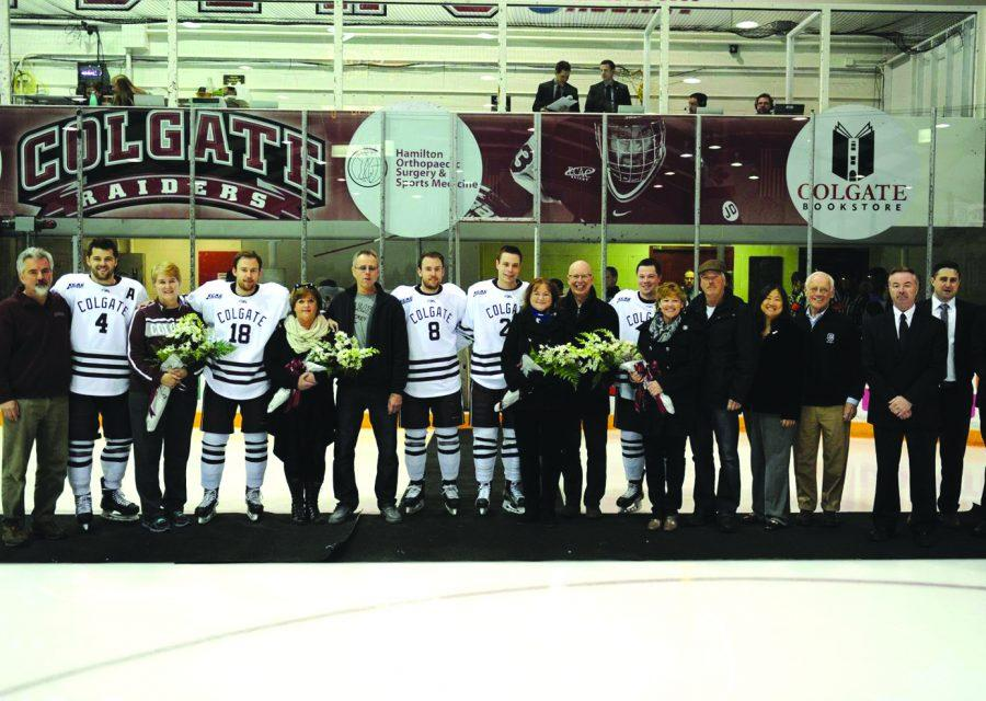 Prior to the Raiders' final game at Starr Rink, the class of 2016 was honored for their accomplishments.
