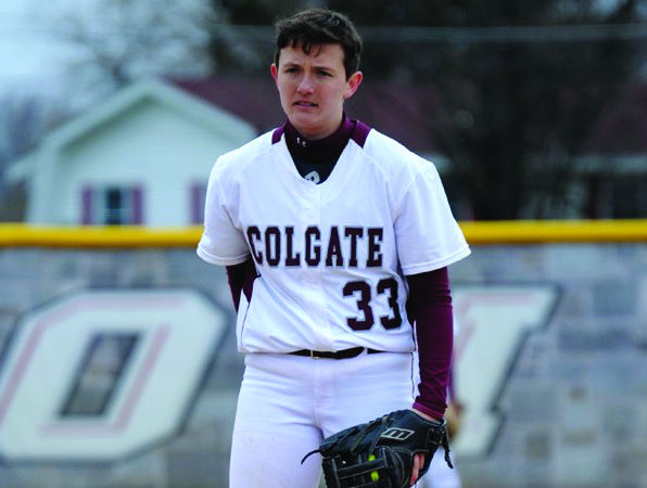 Sophomore pitcher Kyle Griswold led the Raiders to a series victory over Holy Cross by pitching seven scoreless innings.