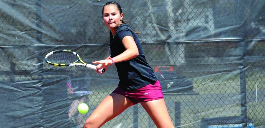 First-year Lauren Hyland has been the subject of a lot of attention this year on the  team, as she has played No. 1 in the lineup since the season started; unfortunately, she lost both her doubles and singles matches this weekend.