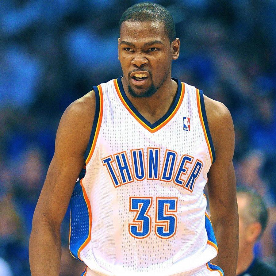 Kevin+Durant+will+look+to+lead+his+Thunder+through+the+NBA+Playoffs+as+he+and+Russell+Westbrook+seek+their+first+title.%C2%A0