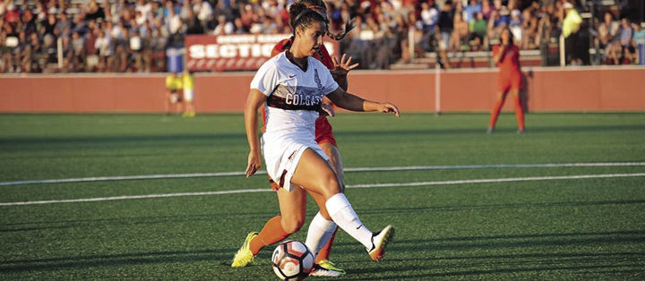 First-year forward Abby Sotomayor tallied the winning goal for the Raiders against LSU.