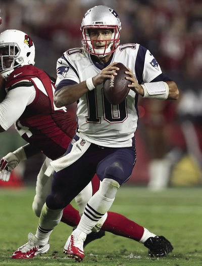 Jimmy Garoppolo, who is in for the suspended Tom Brady until week four, led the Pats to a 23-21 win over Arizona.