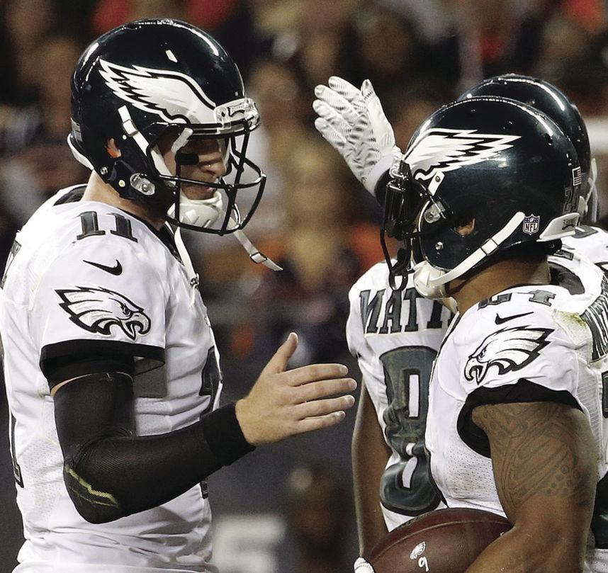 The Philadelphia Eagles have not won a Super Bowl in their franchise's existence, but are 7-1 at the NFL's midpoint.
