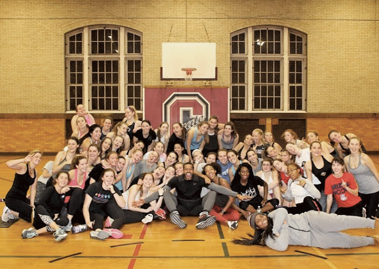 Bigger, a personal trainer, led a workout class with Colgate students (as pictured above), during which he emphasized using motivational phrases.