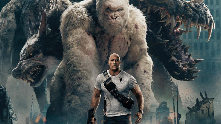 Dwayne the Rock Johnson and his furry friends star in an action packed movie.