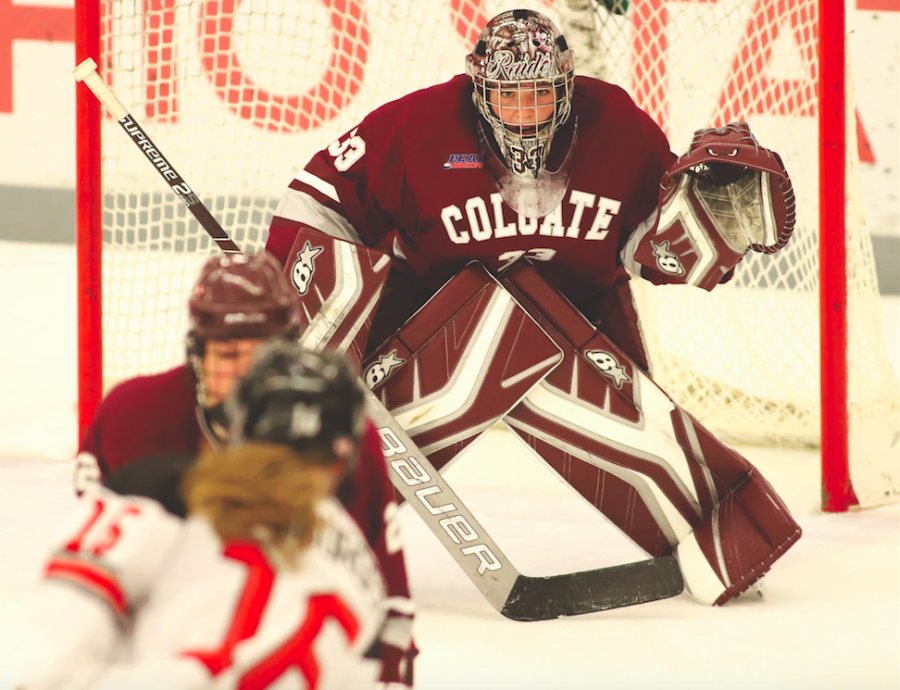 Colgate+women%E2%80%99s+ice+hockey+redeemed+themselves+Saturday+October+6%2C+after+losing+to+Northeastern+in+the+first+game+of+the+teams+two+game+series+in+Boston%2C+MA.