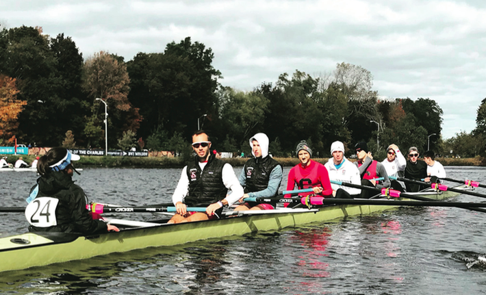 The varsity men's and women's rowing teams competed at the Head of the Charles Regatta this past weekend in Boston, Massachusetts.