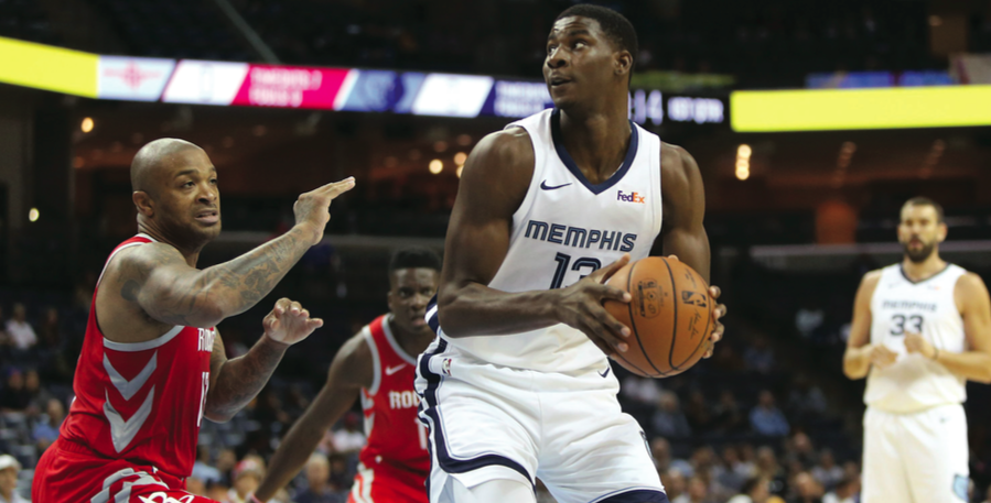 Memphis Grizzlies' Jaren Jackson Jr. was selected with the fourth overall pick in the 2018 NBA Draft. Coming out of Michigan State, Jackson Jr. has averaged 13 points per game and 5.6 rebounds through his first five games in the NBA.