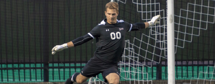 After a 1-0 loss to Navy, men's soccer remains in third place and will host a game in the league tournament.