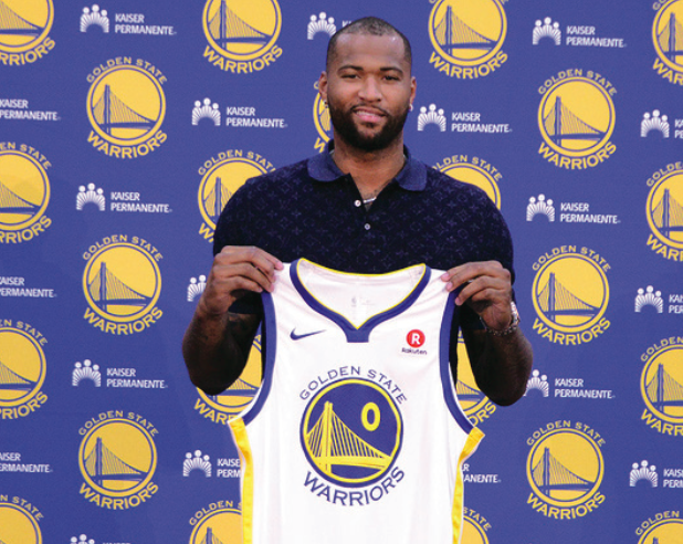 Demarcus+Cousins+signed+with+the+Golden+State+Warriors+during+the+offseason+to+add+to+their+star-studded+lineup+and+sure+up+the+superteam.