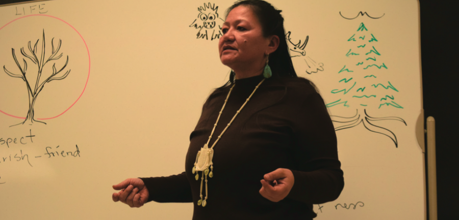 Alicia Cook visited campus on Thursday, February 21 to discuss holistic healing.