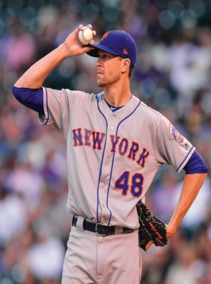 Pitcher Jacob deGrom will be the focal point for the Mets this season as they look to contend for a playoff spot in the National League East division.