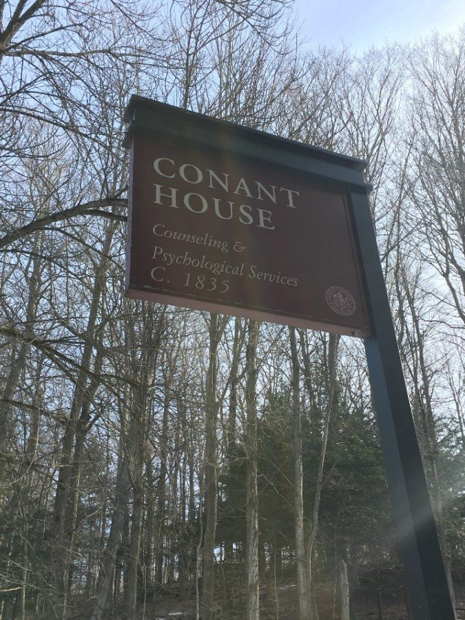 Conant House is the on-campus headquarters for Counseling and Psychological Services. The group therapy sessions normally hosted there are now being hosted by Zoom.