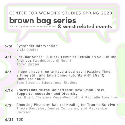 Center for Women's Studies Holds Virtual Brown Bag Series
