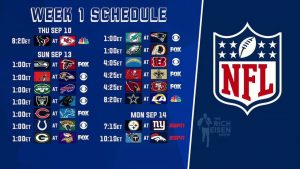 Week 1 2020 NFL schedule.