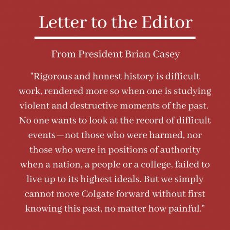 Letter to the Editor: President Responds to Op-Ed on Colgate's Cycle of Racism