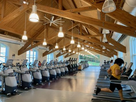 Students enjoy access to Trudy Fitness Center, which opened Wednesday, Sept. 30 after campus moved into Gate 2.