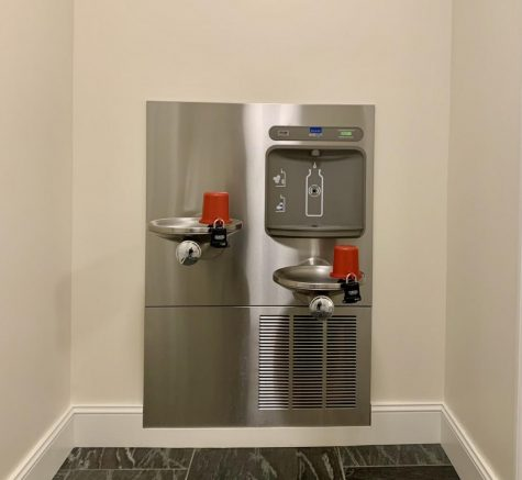 Residence Hall Water Fountains Found Covered