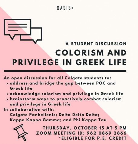 OASIS+ Hosts Open Student Discussion about Colorism and Privilege in Greek Life