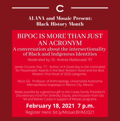 ALANA Hosts Conversation on the Intersectionality of Black and Indigenous Identities