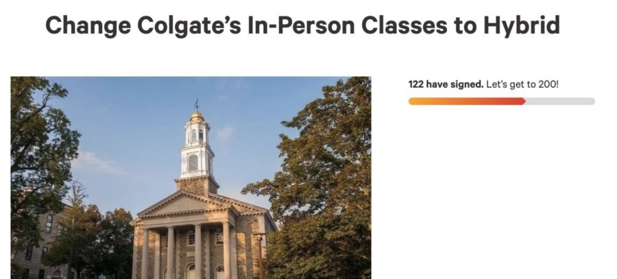 Petition Created To Change Colgate's In-Person Classes To Hybrid