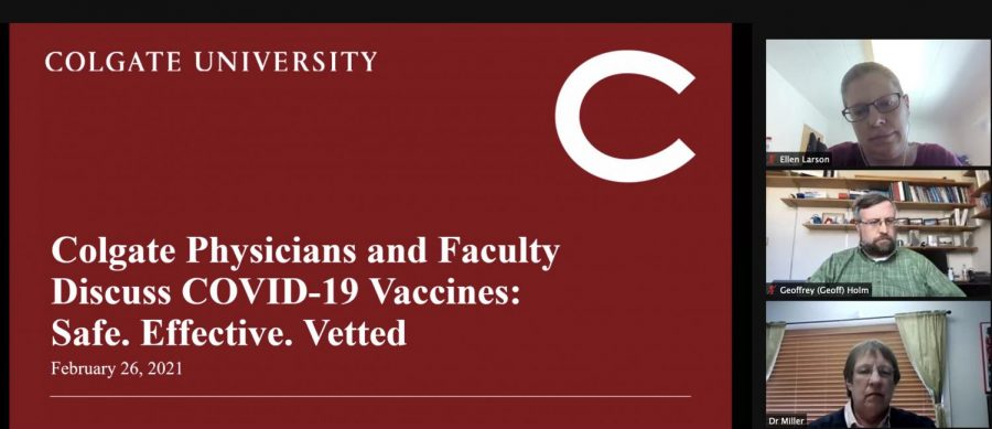Colgate+Physicians+Discuss+COVID-19+Vaccines
