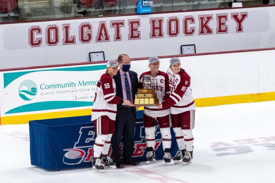 Colgate+Women%27s+Hockey+Captures+First+ECAC+Crown