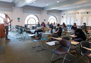 As virus cases surge, the University is now requiring masking in all University-operated indoor spaces and encouraging grab-and-go dining.