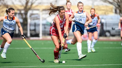 POISED FOR SUCCESS: Forward Taylor Casamassa has lifted Colgate field hockey with veteran leadership and positive energy, leading the Raiders through their 2021 season.