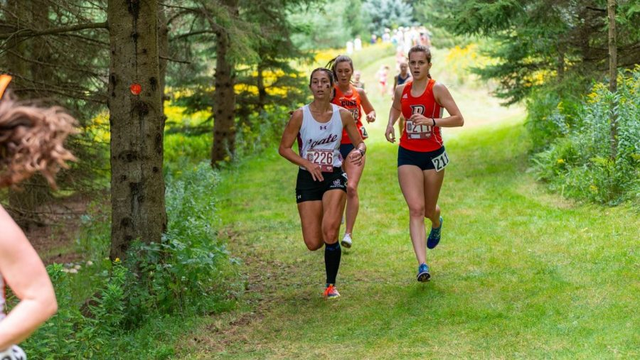MIND YOUR MANNERS: Runner Sophia Manners came in first in the 4.8 kilometer race against Syracuse, winning the race by just under 20 seconds.