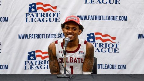 FROM COLGATE TO THE NBA: Patriot League Champ Jordan Burns signs an Exhibit 10 deal with his hometown San Antonio Spurs.